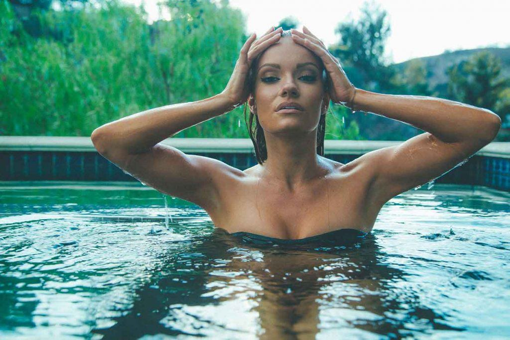 Caitlin O'Connor Modeling in a pool