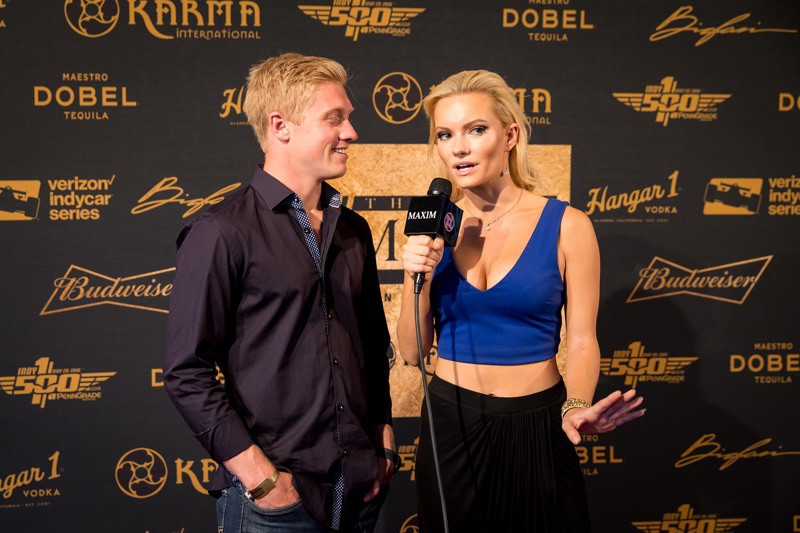 Caitlin O'Connor interviewing