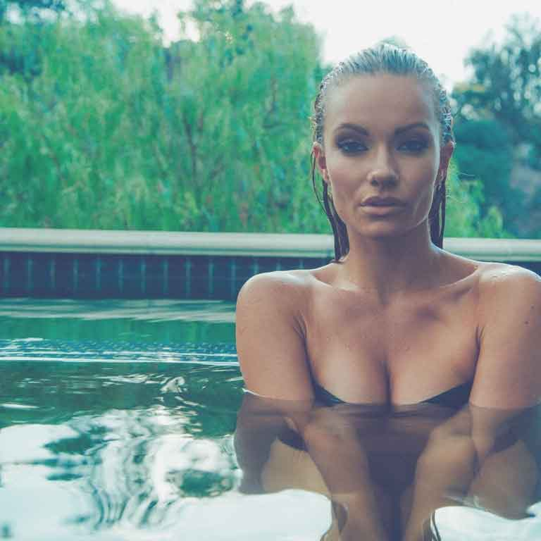 Caitlin O'Connor in a Pool
